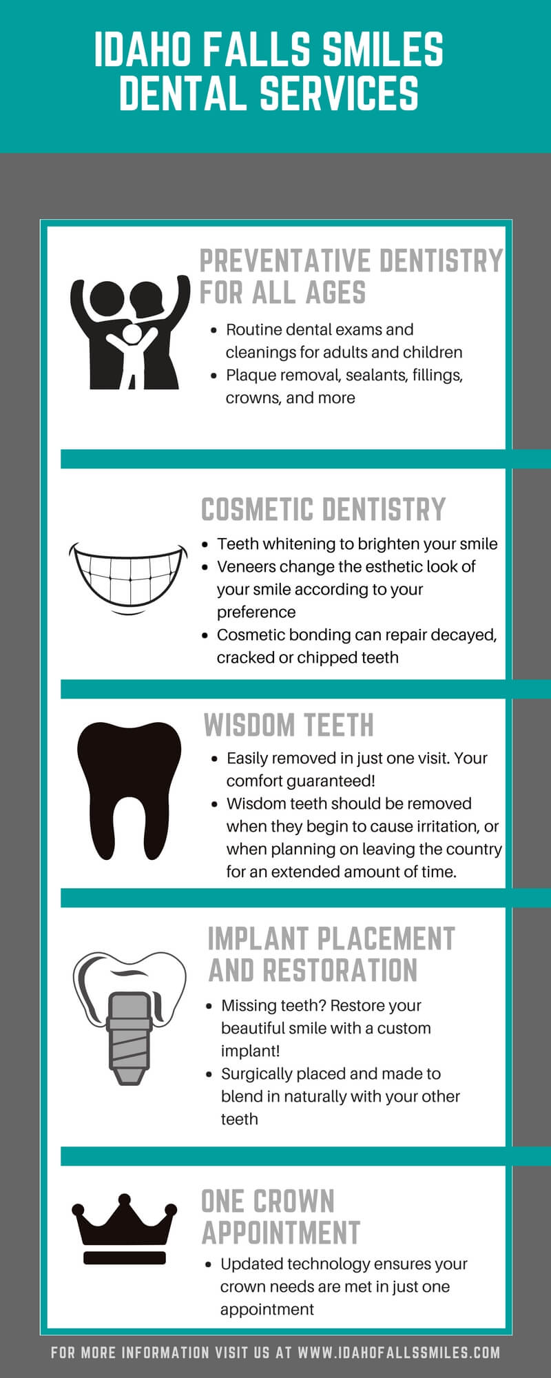 Idaho Falls Smiles Dental Services infograph
